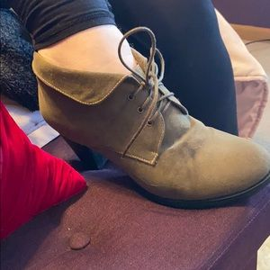 torrid 11w taupe heeled booties